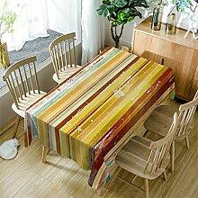 GuDoQi Gelb Tischdecke Tischdecke Rechteck Polyester Stoff Sortierte Größe Für Küche Esszimmer Tischplatte Dekoration