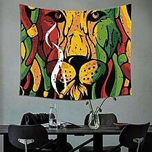 GuDoQi Löwe Tapisserie Wand hängen Wohnheim