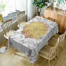 GuDoQi Mandala Tischdecke Tisch Decken Rechteck Polyester Stoff Sortierte Größe Für Küche Esszimmer Tischplatte Dekoration