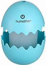GuDoQi® Mini Eierbefeuchter USB Ei Ultraschall Luftbefeuchter Tragbare LED Licht Luftbefeuchter Für Zu Hause Büro Auto Blau