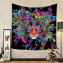 GuDoQi Schädel Tapisserie Wandbehang Wohnheim Dekor Polyester für Schlafzimmer Strand Blatt Tischdecke