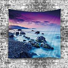 GuDoQi Tapisserie Meerblickfenster Naturlandschaft