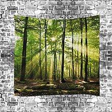 GuDoQi Tapisserie Sonniger Wald Natürliche