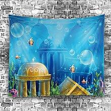 GuDoQi Tapisserie Unterwasserwelt Fisch Tapisserie