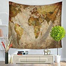 GuDoQi Tapisserie Weltkarte Kreative Tapisserie