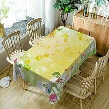 GuDoQi Tischdecke Gelbe Blase Musikalische Muster