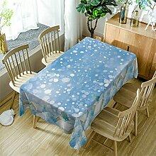 GuDoQi Tischdecke Weißes Schneeflockenmuster Rechteck Tischdecke Tischdecken aus Polyestergewebe für Küche und Esstisch Dekoration