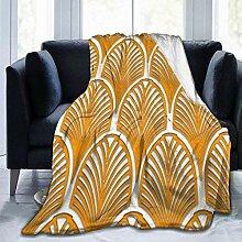 Guduss Orange/Weiß, Art Deco, Vintage,