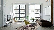 Günstig Teppiche Modern Splash Designer Teppich Grau Top Preisknaller SALE, Größe:80cm x 150cm