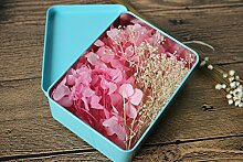 Günstige Braut ewige Blumenkästen Kopf Blume Kopfschmuck Haar-Accessoires Boxen Schmuck getrocknete Blumen Hochzeit Zubehör ( farbe : Pink )