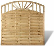 """Günstige Terrassen Sichtschutz Zaunfelder im Maß 180 x 180 auf 165 cm (Breite x Höhe)mit Bogenverlauf aus Kiefer/Fichte Holz, druckimprägniert """"Mainz"""