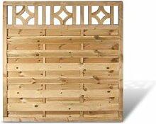 """Günstiger Holzzaun Sichtschutz im Maß 180 x 180 cm (Breite x Höhe) aus Kiefer / Fichte Holz, druckimprägniert """"Köln"""