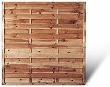 """Günstiger Sichtschutzzaun + Gartenzaun Maße 150 x 150 cm (Breite x Höhe) aus Kiefer/Fichte Holz, druckimprägniert """"Berlin"""" Massiv II"""