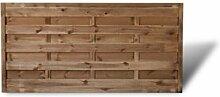 """Günstiger Sichtschutzzaun / Gartenzaun Maße 180 x 90 cm (Breite x Höhe) aus Kiefer/Fichte Holz, druckimprägniert """"Berlin"""" Massiv II"""