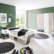 günstiges Jugendzimmer Set in Sandeiche Nb. mit