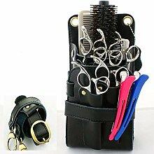 Gürteltasche für Friseurzubehör, aus PU-Leder,