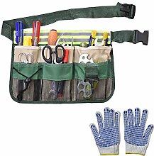Gürteltasche für Gartenwerkzeug, mit 8 Taschen,