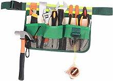 Gürteltasche mit 7 Taschen, zum Aufhängen, Grün