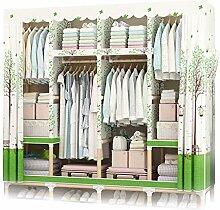 GUHAIBO Textilschrank Holz,kleiderschrank