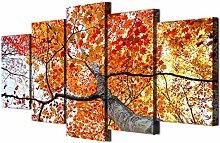 Guihuawang 5 Stücke Leinwand Wandkunstmoderne