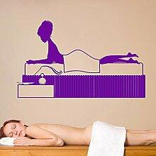 guijiumai 120x72cm Vinyl Wall Decal Spa Massage