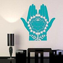 guijiumai Design Blumen Vinyl Wandtattoo Mehndi