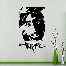 guijiumai DIY Wandtattoo Tupac Amaru Wand Vinyl