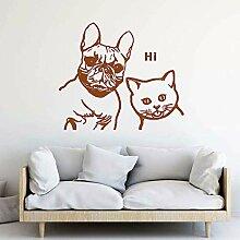 guijiumai Französische Bulldogge Und Blaue Katze