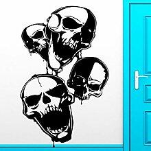 guijiumai Halloween Sticker Skull Decal Poster