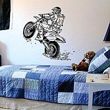 guijiumai Motorrad Wandtattoo Sport Wand Vinyl
