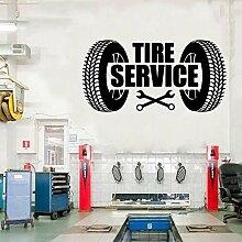 guijiumai Spaß Reifen Service Wandkunst Aufkleber