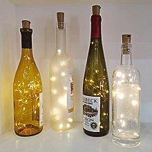 Guijiyi Flaschenlicht Batterie, 2m 20 LED Glas