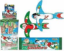 Guilty Gadgets Mini-Segelflugzeug, weihnachtliches