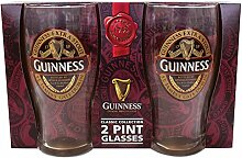 Guinness 2 Pack Pint Gläser - Ruby Rot Collection