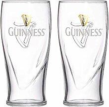 Guinness Bierglas, geprägt, offizielles Produkt,