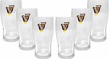 Guinness Bierglas Glas Gläser-Set - 6x