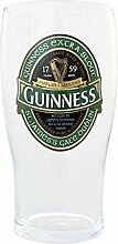 Guinness Bierglas mit grünem Sonderlogo