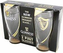 Guinness Geprägte 2 Pack Bierglas