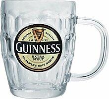 Guinness Glas Henkelkrug Pintmaß mit Guinness Logo