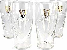 Guinness Irish Pint Beer Glasses 16oz - Set of 4