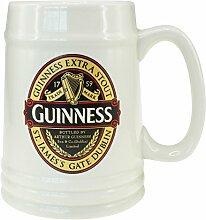 Guinness-Keramikkrug mit schwarz-rotem