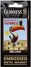 Guinness Metal Magnet With Embossed Toucan On