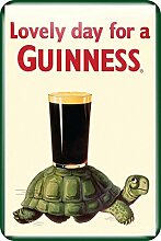 Guinness Metal Sign With Guinness Tortoise Design