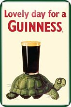 Guinness Metal Sign With Guinness Tortoise Design