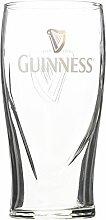 Guinness Pint Glas mit geprägter Harfe (20oz