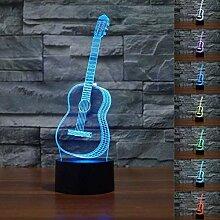 Guitars 3D Glow LED Nachtlicht kreative Gitarre