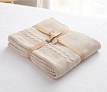 GuiXinWeiHeng Knitting Linie Decke Wolldecke