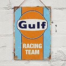 Gulf Racing Replik Vintage Retro Garage Schuppen