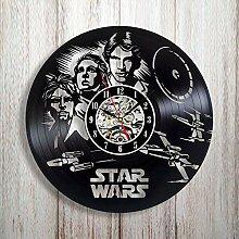 Gullei.com Wanduhr aus Vinyl, Motiv Star Wars Fans