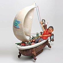 Gulliermo Forchino Ship Ahoy Skulptur Segelboot -